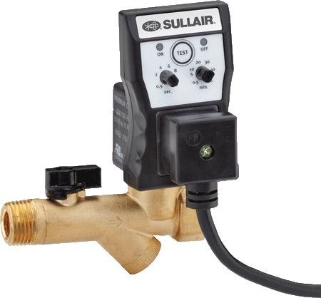 Sullair timed solenoid drain