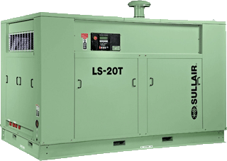 Sullair LS-20T extreme pressure rotary screw air compressor