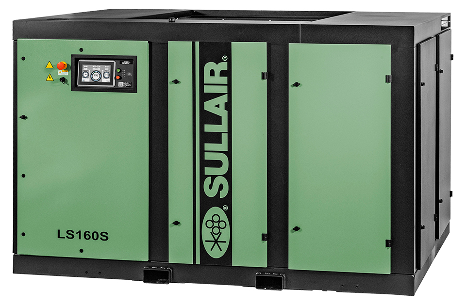 Sullair LS160S stationary rotary screw air compressor